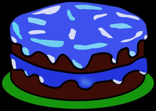 20art birthday cake clip art no candles Blue Birthday Cake ...