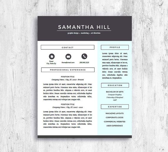 Creative Resume Template With Cover Letter and References - references on a resume template