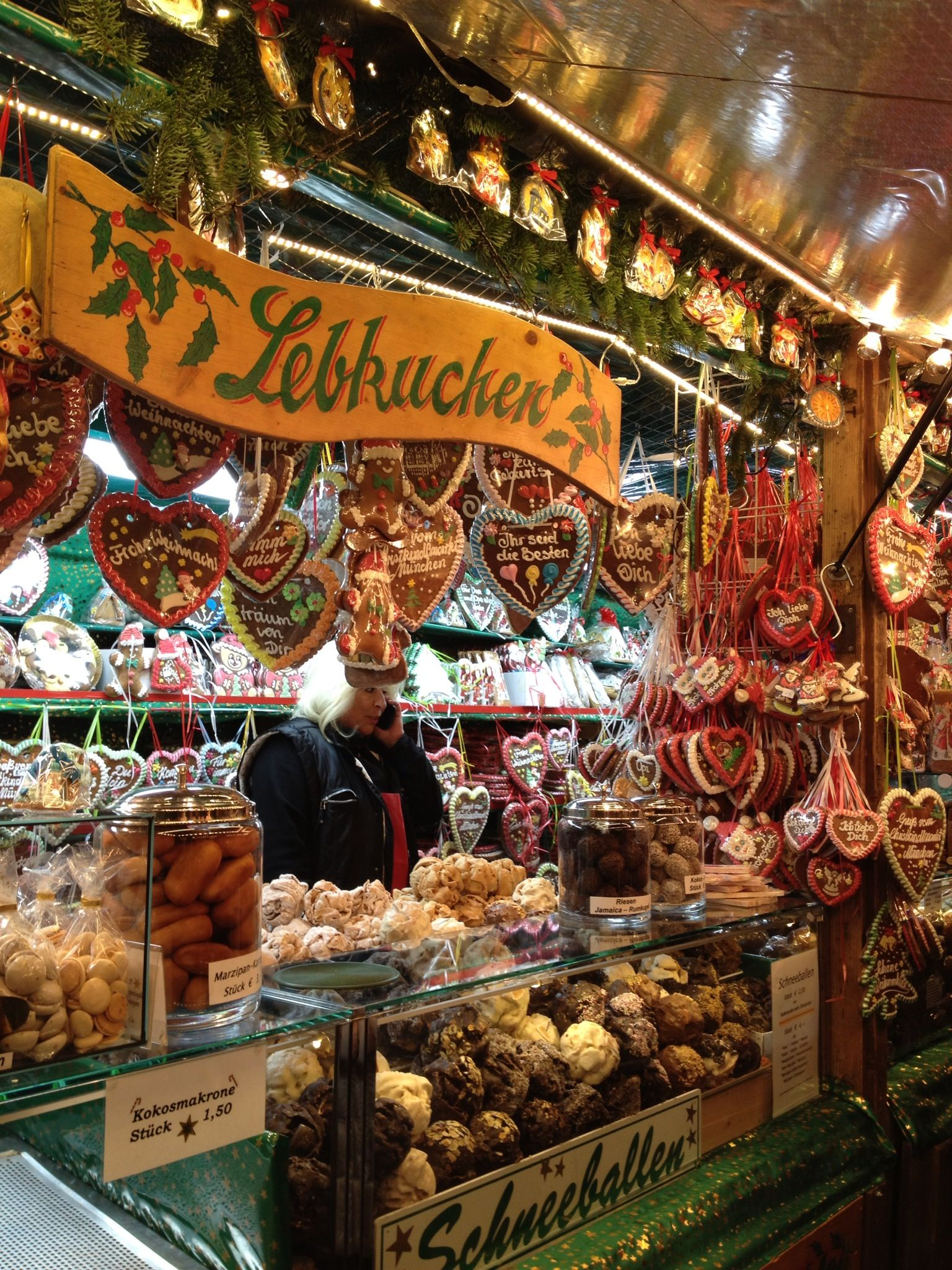 Munich Christmas market. Christmas Village in Baltimore is