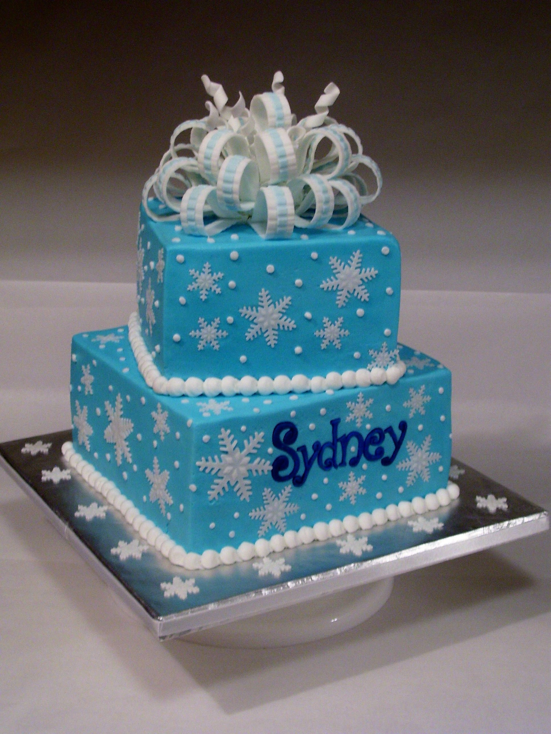 Remarkable Snowflake Birthday Cake With Images 8Th Birthday Cakes For Funny Birthday Cards Online Alyptdamsfinfo