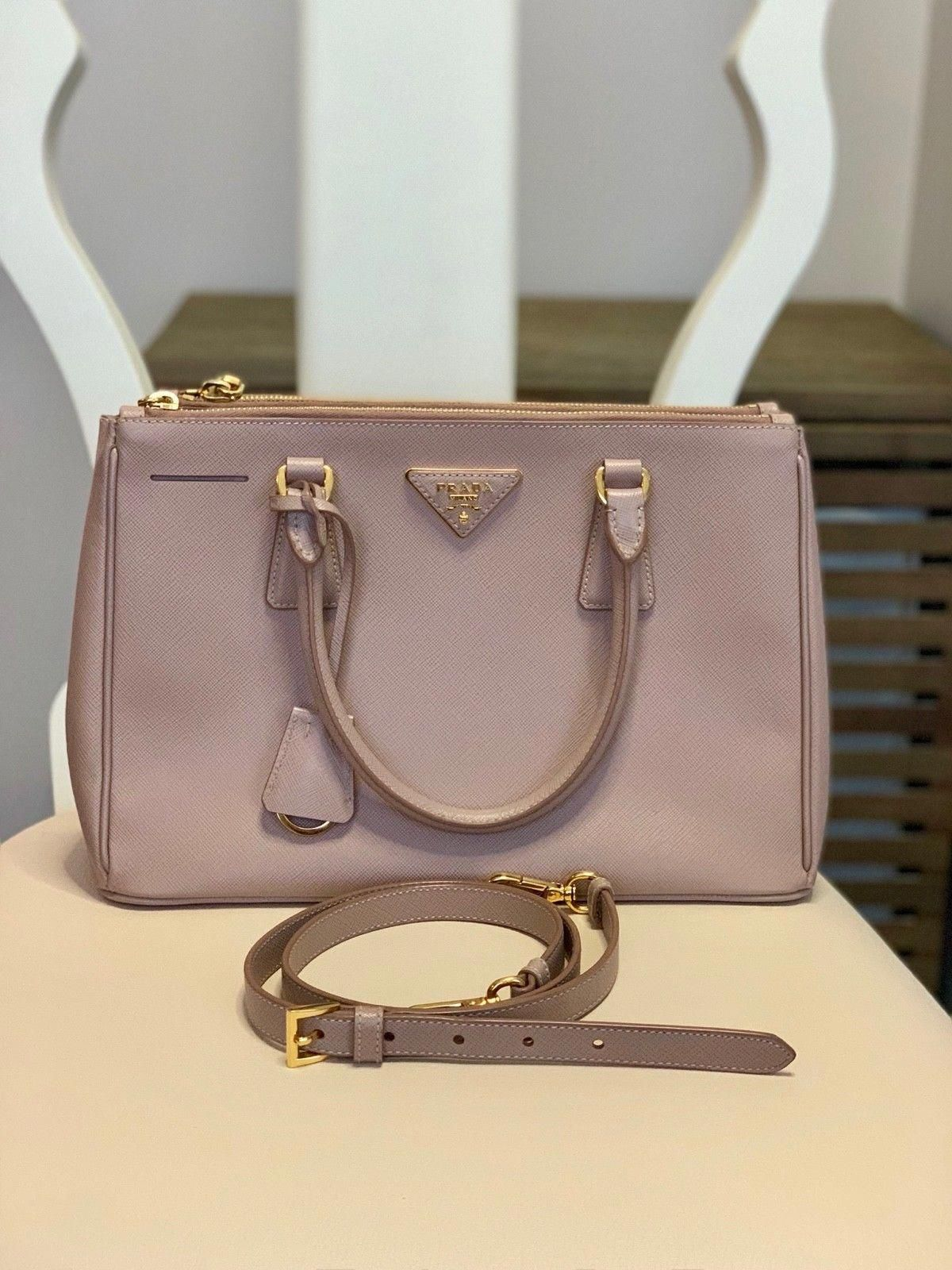 c3b007dd55af80 Prada Killer Satchel Shoulder Hand Bag Saffiano Leather Pink #Pradahandbags