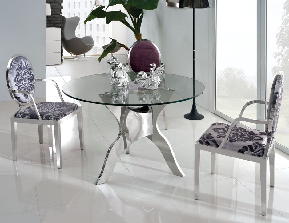 Epic Round Glass Dining Table Design Ideas  倫For The Home倫 Best Oval Dining Room Table Set Design Inspiration