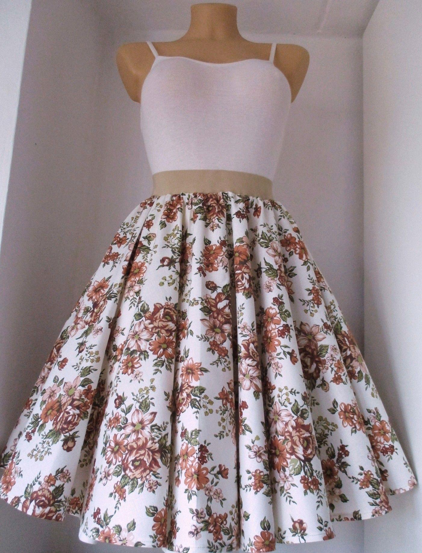 d6975d43a8b3 Sukně+kolo+hnědá+růže+ Kolová+sukně+z+kvalitní+pevné+100%+bavlny.+ ...
