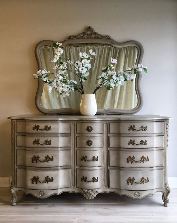 Reloved Chalk Painted Coco Vintage Buffet Dresser And