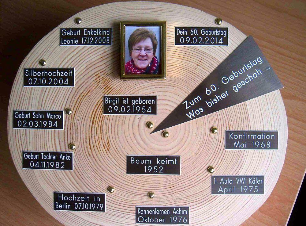 Geschenke Zum 60 Geburtstag Bauers Baumscheiben Geschenk Zum