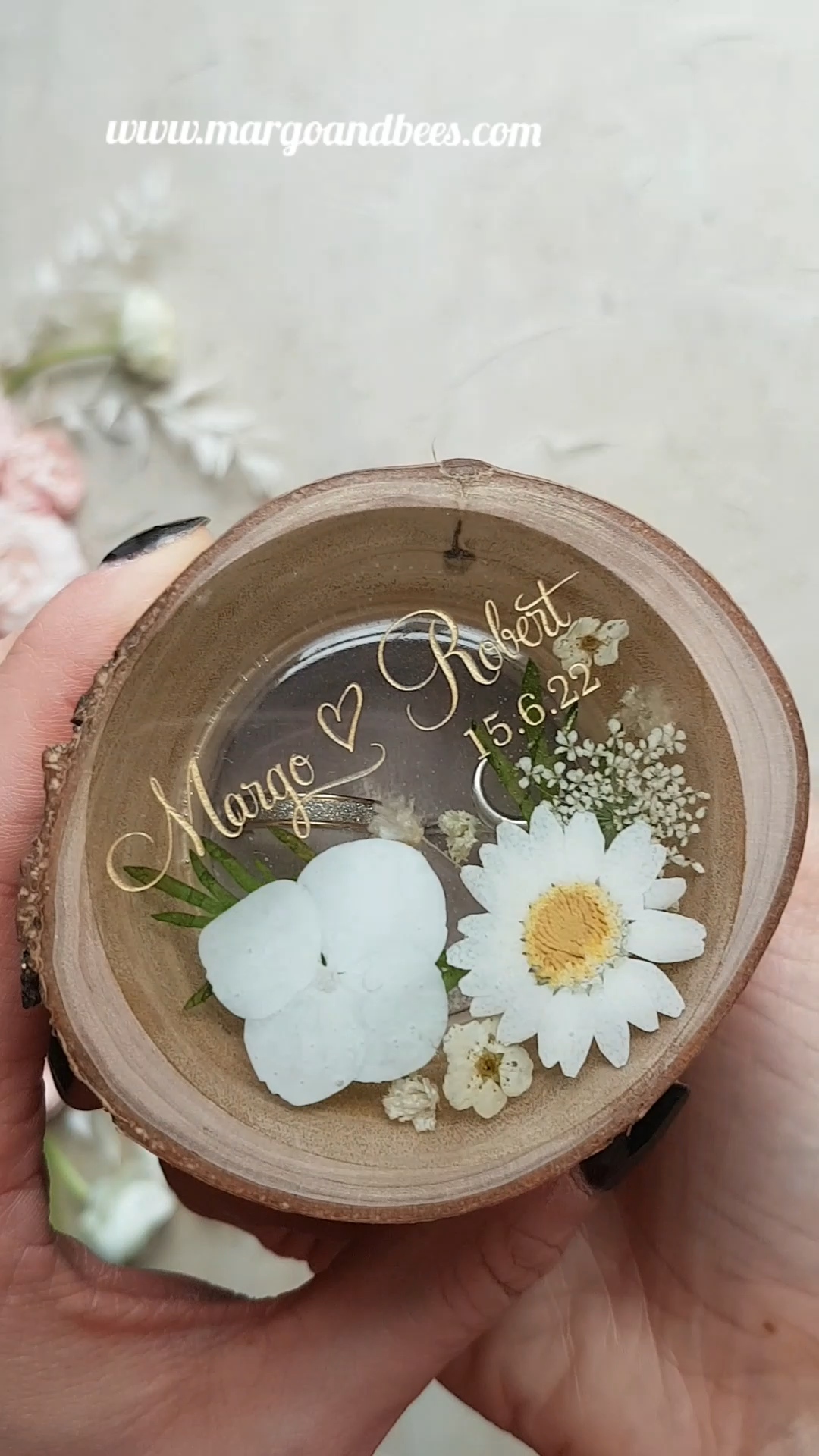 Wedding ring box unique floral design 201/flowerr/box