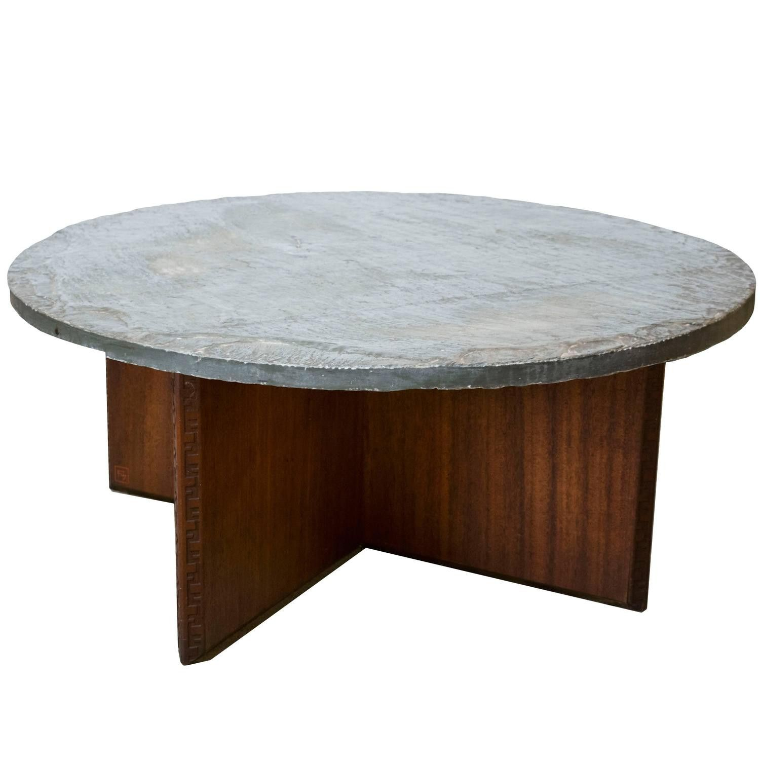 round slate top coffee table