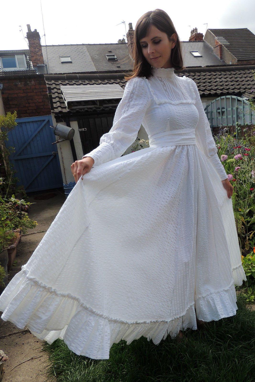 Vintage LAURA ASHLEY Romantic Victorian Edwardian 1970s