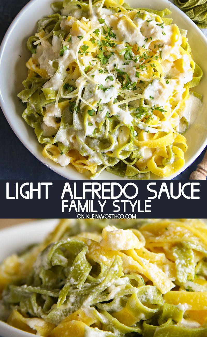 Light Alfredo Sauce Recipe Is An Easy To Make Homemade Alfredo Recipe That  Has All The