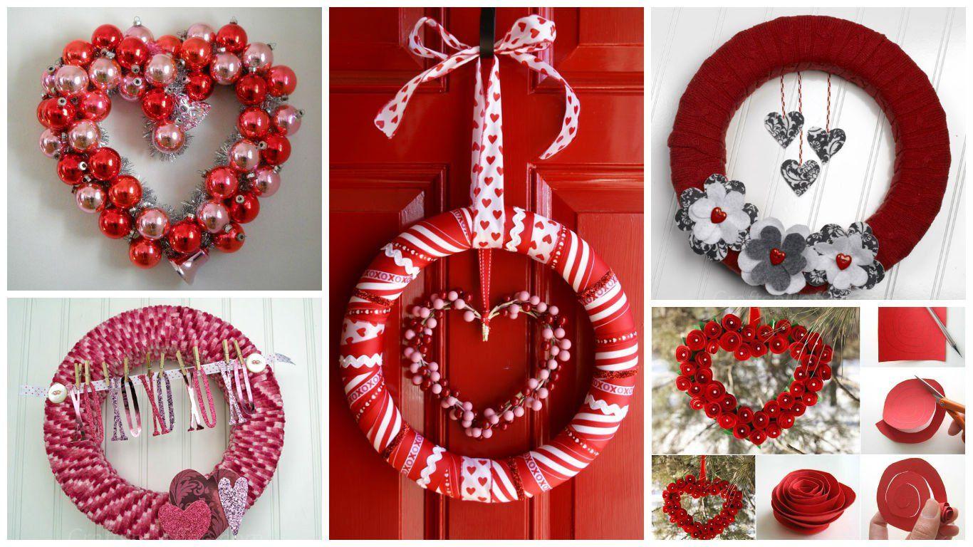 17 Fabulous DIY Valentineu0027s Day Wreath Designs