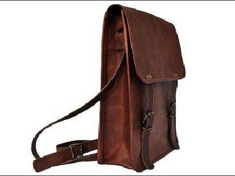 """Handmade 9""""11 leather Satchel vertical laptop bag shoulder men ..."""