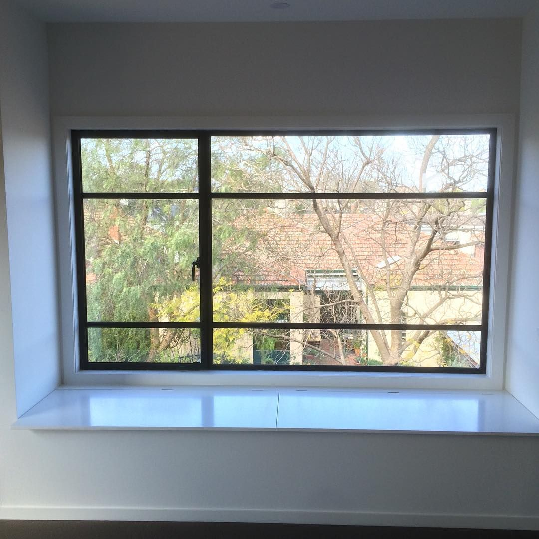 A nice shot from a recent project in Malvern with our slimline 30mm steel framed fixed window and casement sash housed in this stunning light filled master bedroom bench seat reveal!#steelwindows #steelwindowdesign #interiordesign #malvern #madeinmelbourne #fabrication #design #archilovers #archdaily #architecture #homedesign #designideas