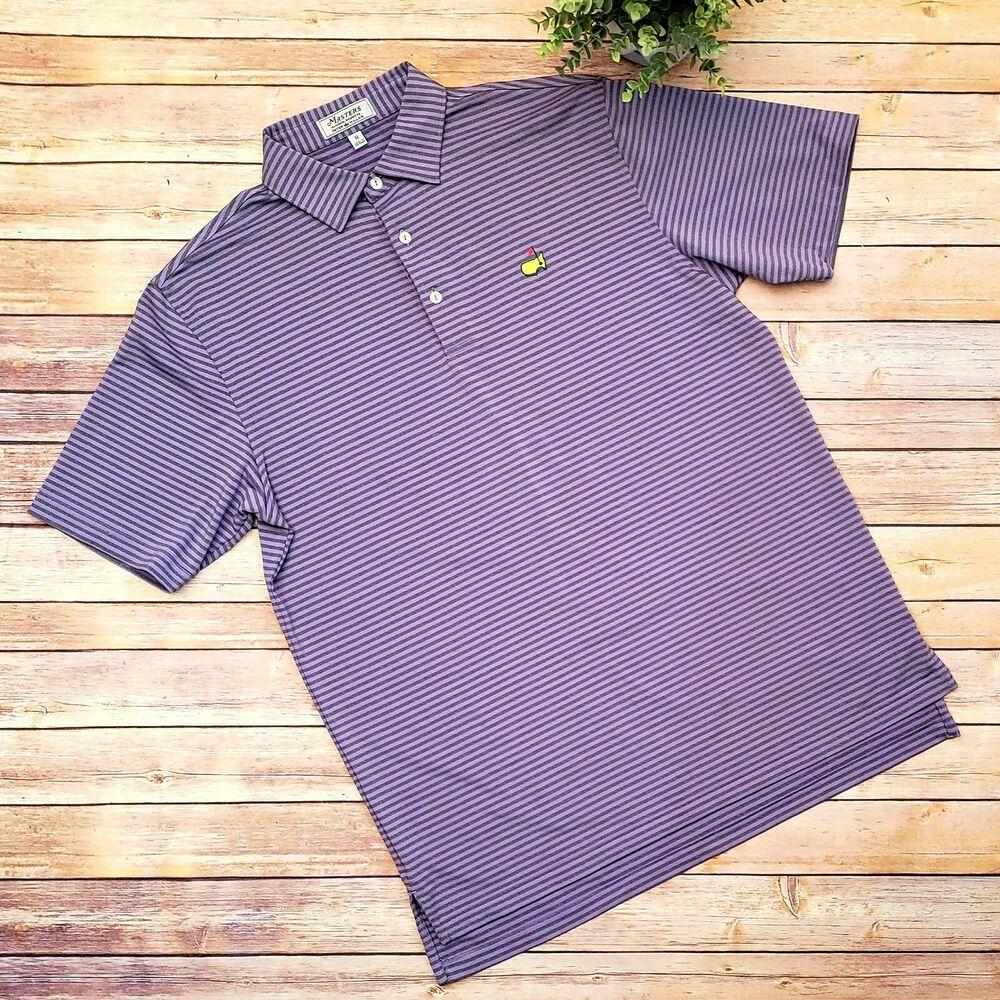 Masters Peter Millar Golf Polo Shirt Medium Short Sleeve