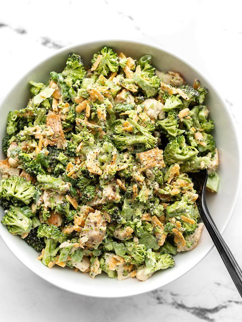 Broccoli Cheddar Chicken Salad Recipe - Budget Byt