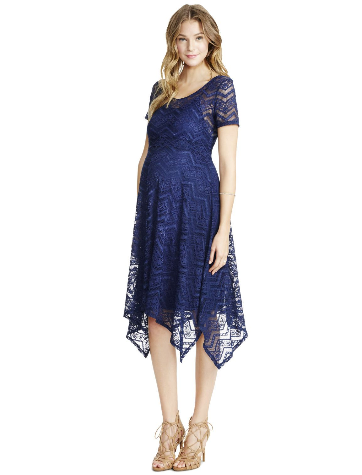 c9104b99e84 Motherhood Maternity Jessica Simpson Lace Hanky Hem Maternity Dress ...