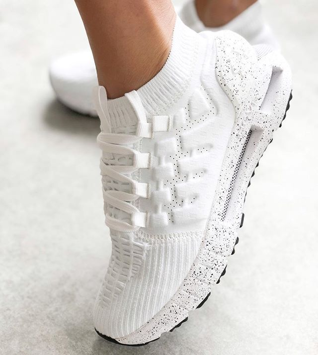 best sneakers 12622 d2b07 The Under Armour HOVR Phantom Confetti sneakers. Triple white style with  speckled black midsole.