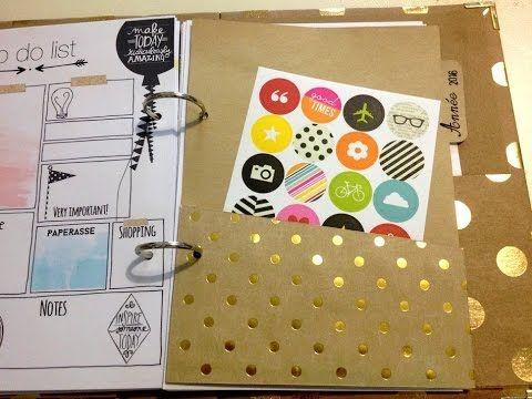 diy cr er des intercalaires pochette pour son planner agenda mini album avec tuto. Black Bedroom Furniture Sets. Home Design Ideas