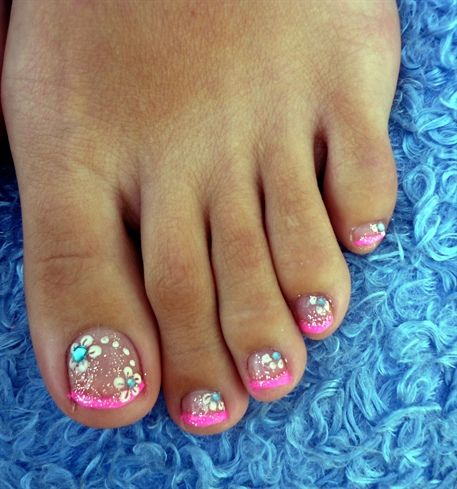 Pink French Pedicure by Constance - Nail Art Gallery nailartgallery ...