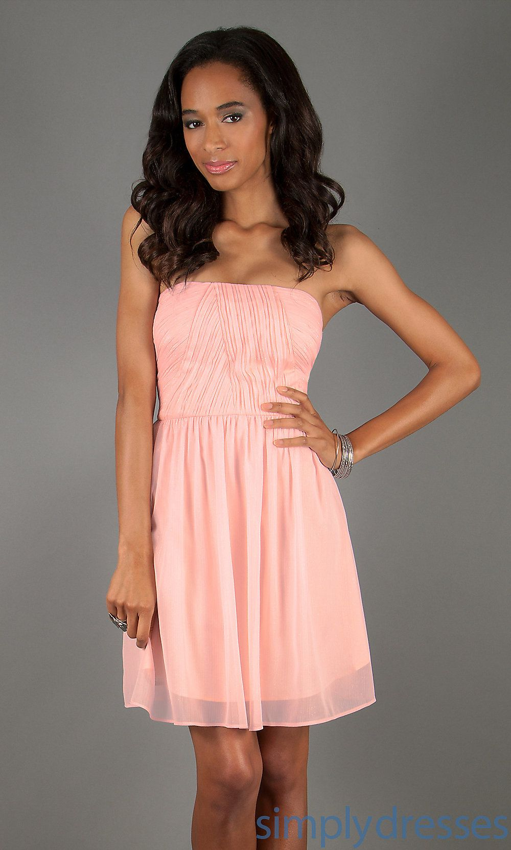 Dress, Short Pink Strapless Dress | Maybe confirmation dress ...