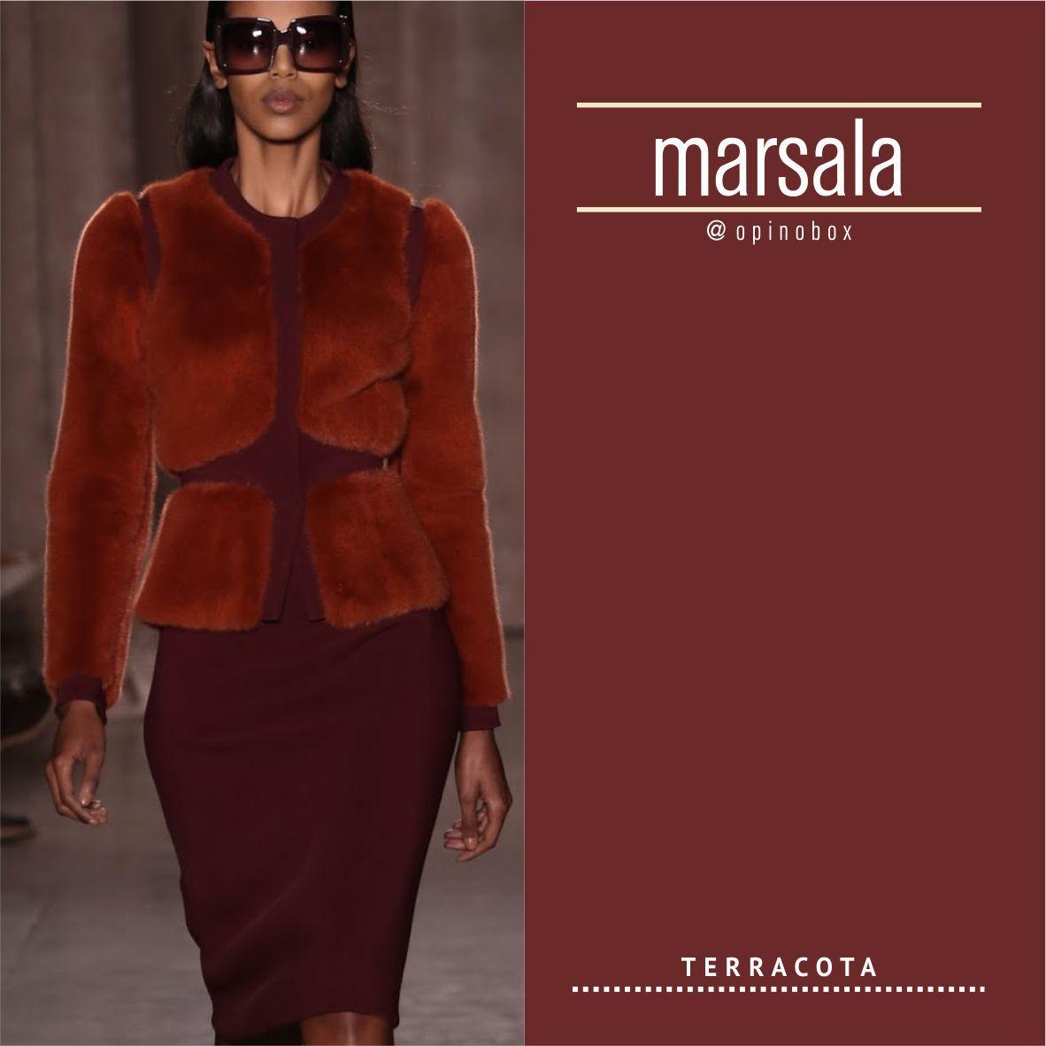 MARSALA com TERRACOTA CORES. Referências de moda Outono 2016