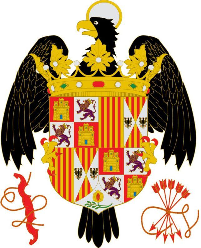 Reyes Católicos Austrias Títulos Escudos De Armas Escudo De Armas Heraldica Española Escudo Nobiliario