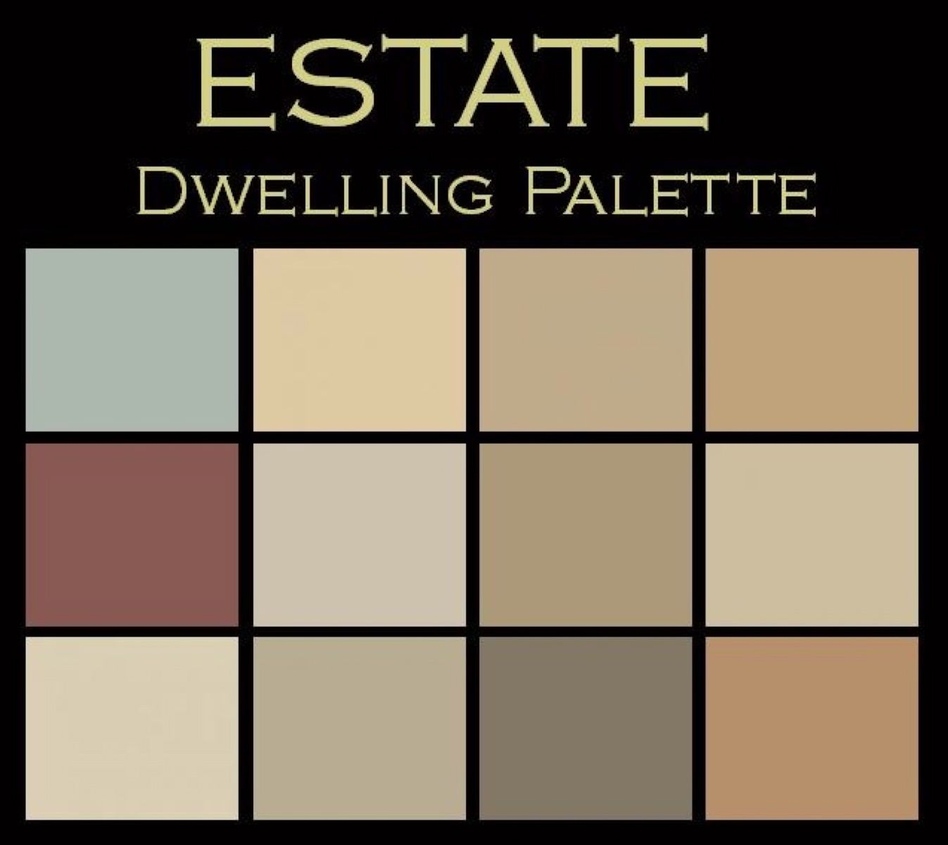 The dwelling paint color palettes on pinterest benjamin for Paint color palette