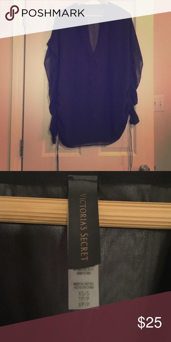 Victoria Secret Bathing Sheer Suit Cover NWOT! Sheer black bathing suit cover from VS. Victoria's Secret Swim Coverups