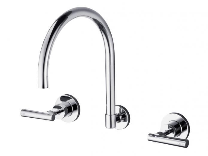 Dorf Capella Wall Sink Set | Kitchen and laundry tap sets ...