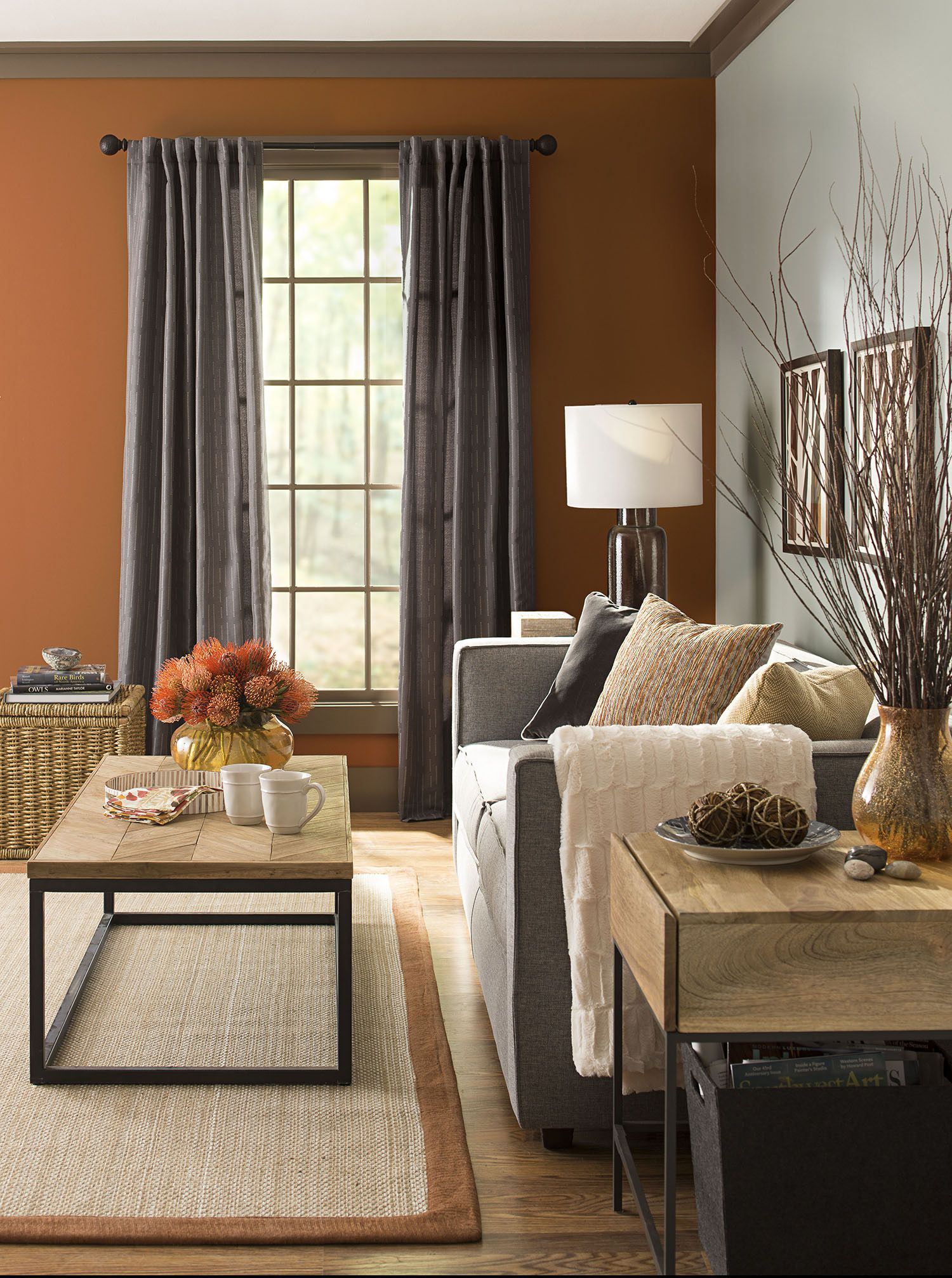 Warm Colors And Metals Adding Harvest Colors Like Amber And Terra Cotta And Darker Metals Like Warm Living Room Colors Living Room Orange Living Room Colors #warm #color #palette #living #room