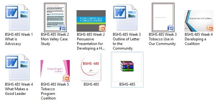 BSHS 485 Week 5 Tobacco Program Coalition http\/\/wwwuopnerds - letter of presentation