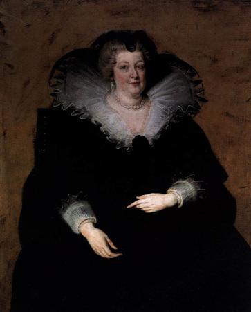 RUBENS, Pieter Pauwel. Queen of France. c.1622  17세기 중엽이 지나자, 프랑스는 상업적으로나 경제적으로나 놀랍게 발전하게되었다. 영국에서도 직물공업이 발전하면서 급기야 네덜란드를 제치게 되었고, 그리하여 네덜란드 복식의 국제성은 쇠퇴의 길을 걷게 되었다. 영국과 프랑스, 이 두 양국이 유럽복장 문화의 결정적인 역할을 수행하게 된다. 복장의 스타일은 르네상스시대보다는 대체로 몸에 편한 스타일이 되었고, 전체적인 조화와 관계없는 장식들이 조화와 균형을 파괴하는데서 오는 부조화나 어색함을 특색으로하여 열정적이고 감각적인 기풍을 드러낸다. 이는 종교의 지배에서 벗어난 활기띤 시대사조에 부응하여 생겨난 것으로, 내세에 대한 동경보다 현세에서의 쾌락추구에 목적을 둠으로써 더욱 호화스러워졌다.