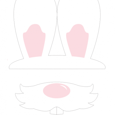 free printable Easter bunny photo props