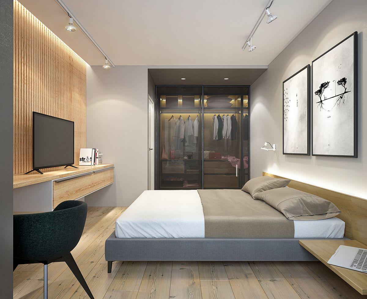 One Bedroom Apartment On Behance One Bedroom Apartment Modern Apartment Design Bedroom Apartment New modern apartment bedroom
