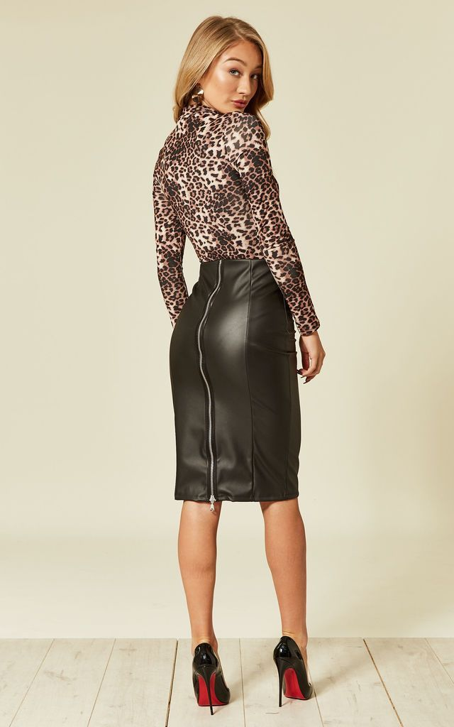Leather Skirt, Christmas Party | Lanti | SilkFred