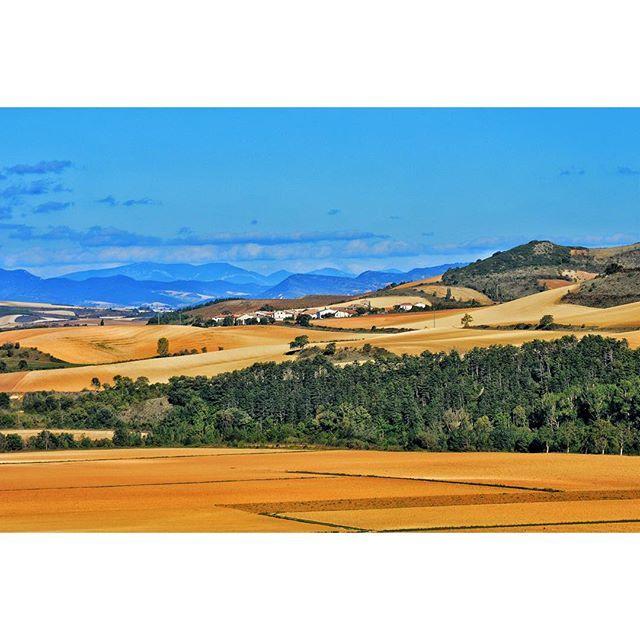 #Navarra, tierra de diversidad. Vista del valle de Etxauri desde Belascoáin (Foto @txus_pin en #Instagram)