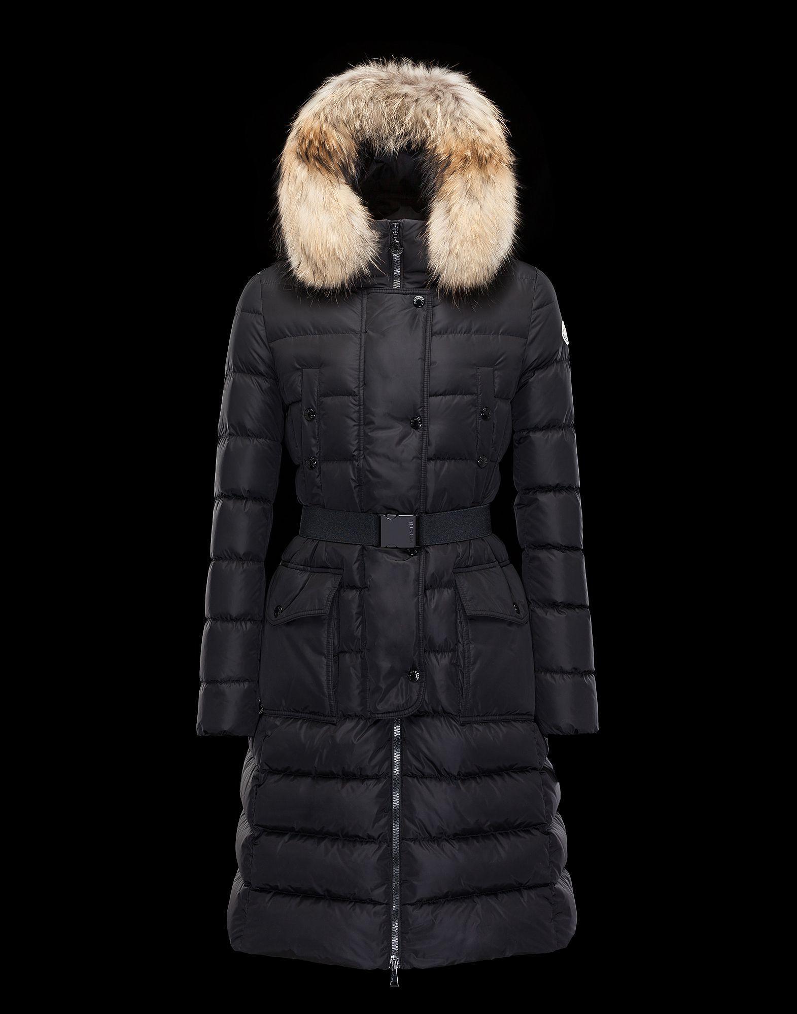 MONCLER Down Jackets MONCLER2016 17 down coat KHLOE black T00 ... 64314fb3bb4e