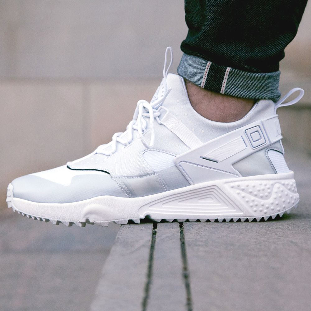 Nike Huarache On Feet White