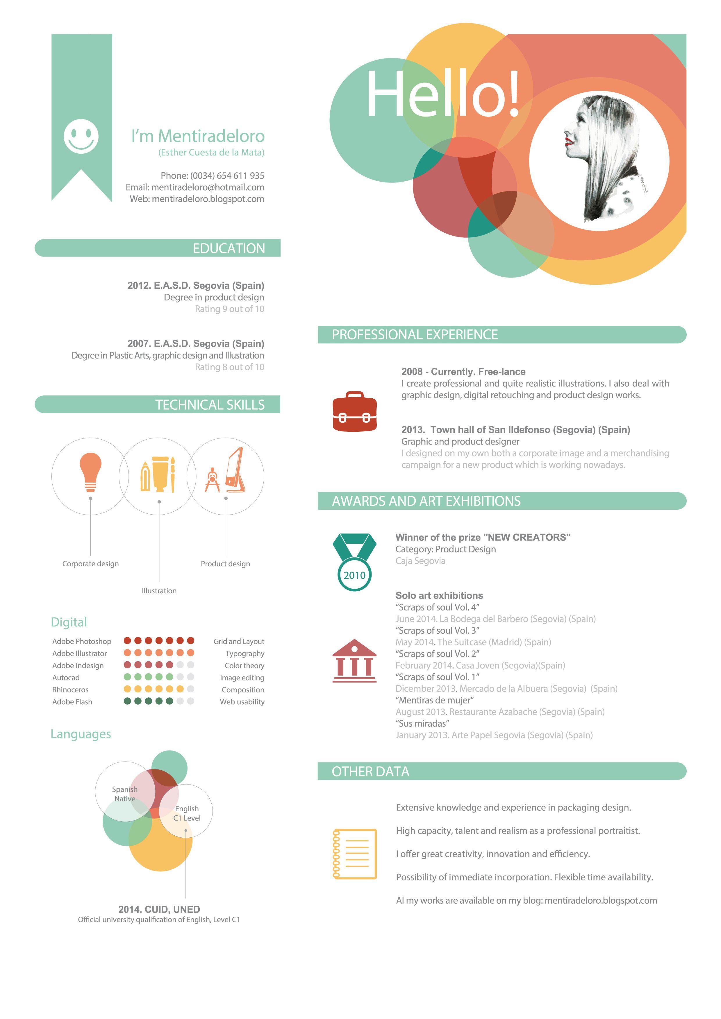 Google themed resume - Curriculum Vitae Buscar Con Google