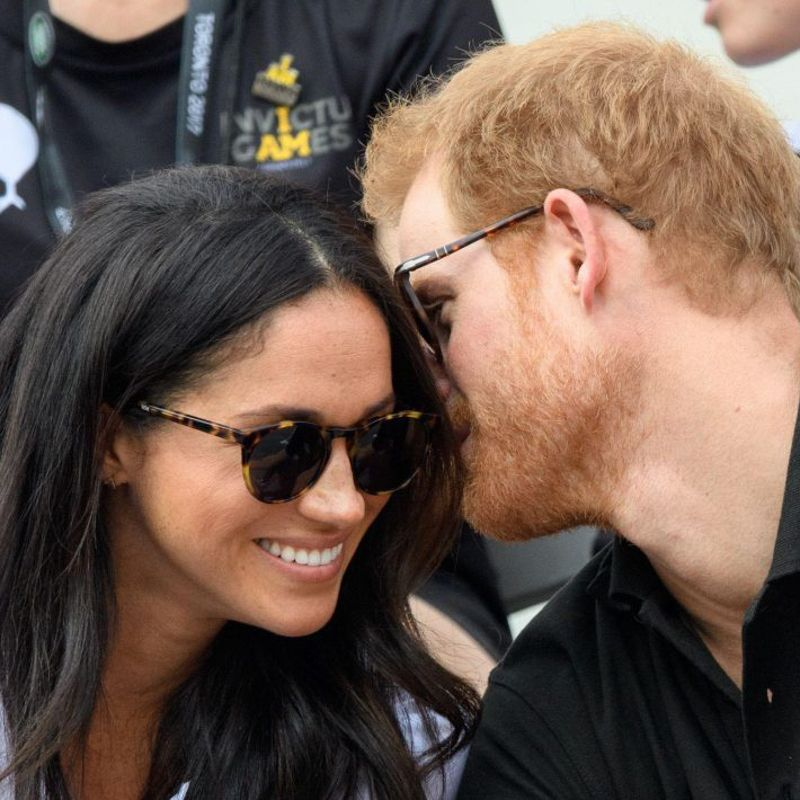 8623c49a53 Meghan Markle wears Finlay   Co. Percy Light Tortoise round sunglasses in  first public appearance with Prince Harry at the Invictus Games