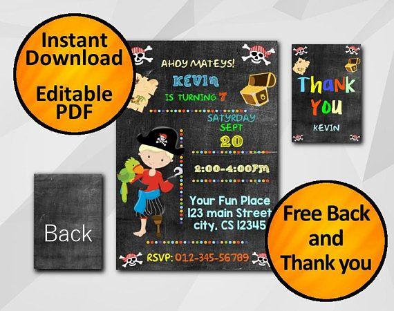 5x7 pirate birthday invitation editable text pdf chalkboard 5x7 pirate birthday invitation editable text pdf chalkboard free back free stopboris Images