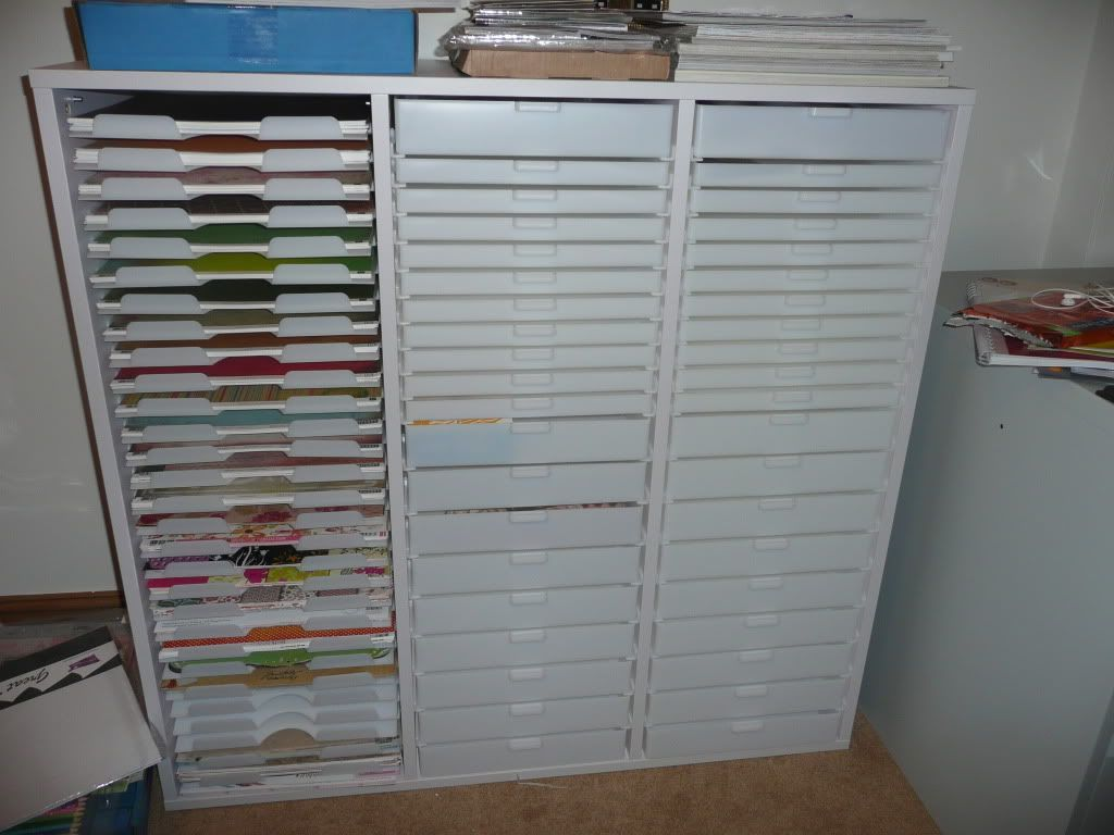 My New Craft Storage Unit Scrapbooking And Card Making
