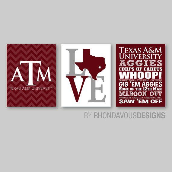 Texas A M Wall Decor Tamu Wall Art Tamu Wall Prints Aggie Art Aggies Gig Em Graduation Gift You Pic Texas Decor Longhorn Texas Longhorns Football