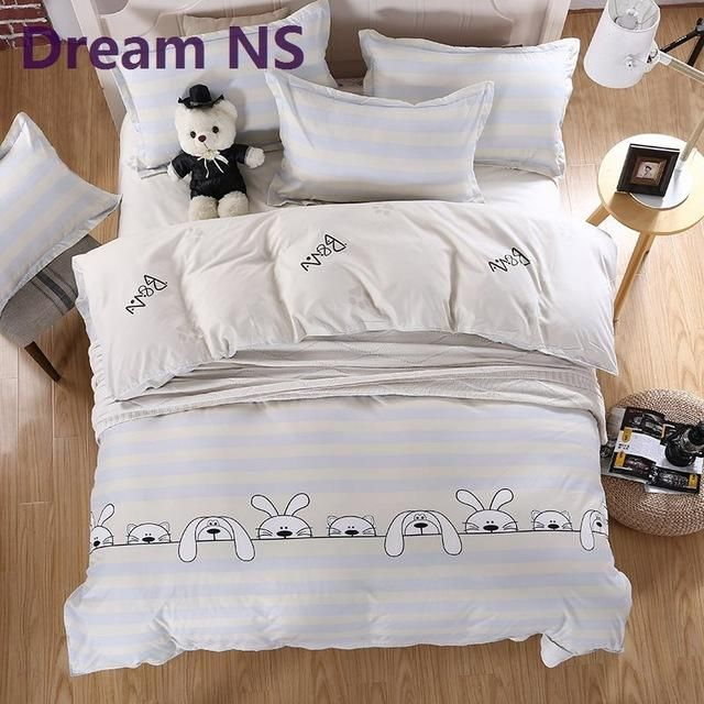 8d528a09cf Dream NS Bedding Set 4pcs/3pcs Duvet Cover Sets Soft Polyester Bed Linen  Flat Bed Sheet Set Pillowcase Home Textile Drop Ship