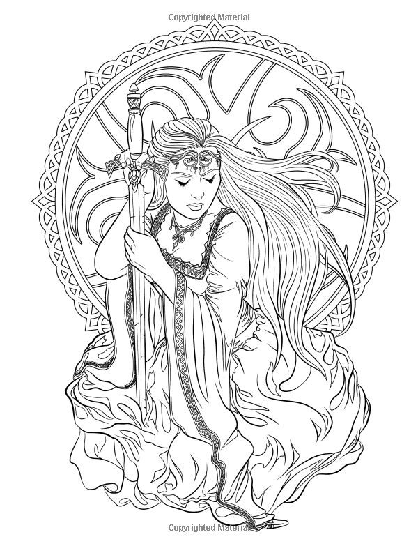gothic print out coloring pages - photo#5