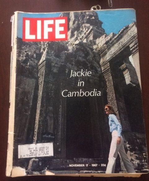 November 17, 1967, Jackie in Cambodia, LIFE Magazine by TheRecycledGreenRose on Etsy