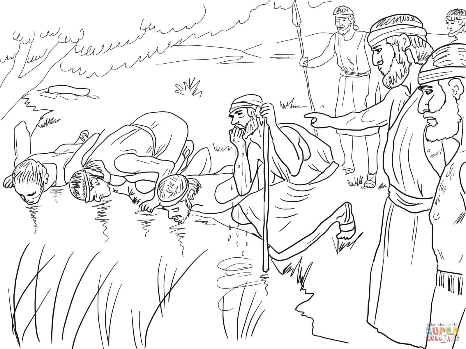 42 Coloring Page Gideon Sunday School Coloring Pages Bible Coloring Pages Coloring Pages