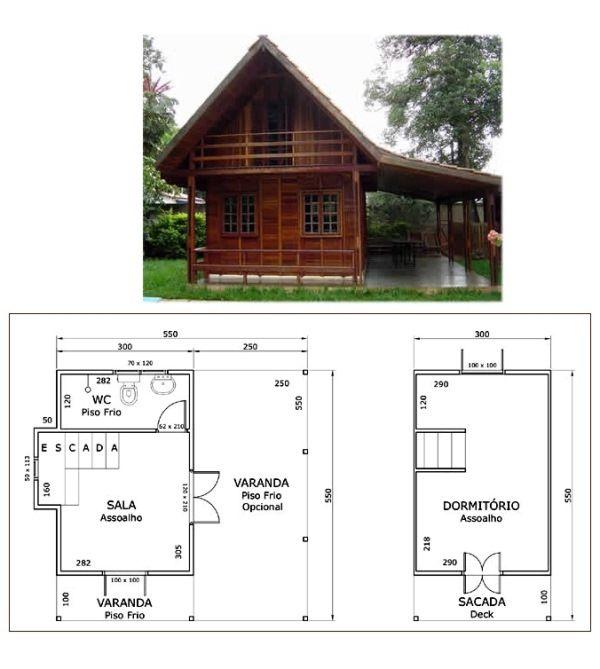 Plantas de chal s pequenos modelos bamboos and more for Modelos de departamentos pequenos para construir