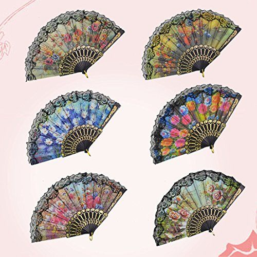 """Rbenxia Spanish Floral Folding Hand Fan Size 9"""" Pack of 10 Pieces Random Color Rbenxia http://www.amazon.com/dp/B00P8NQ9GS/ref=cm_sw_r_pi_dp_Dl7Nwb1N25PM0"""