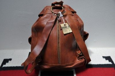 003b736a9a Ralph Lauren RRL Distressed Leather Backpack Rucksack Bag