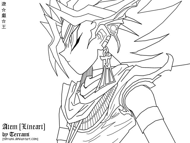 Pharaoh Atem Coloring Books Sketches Coloring Pages